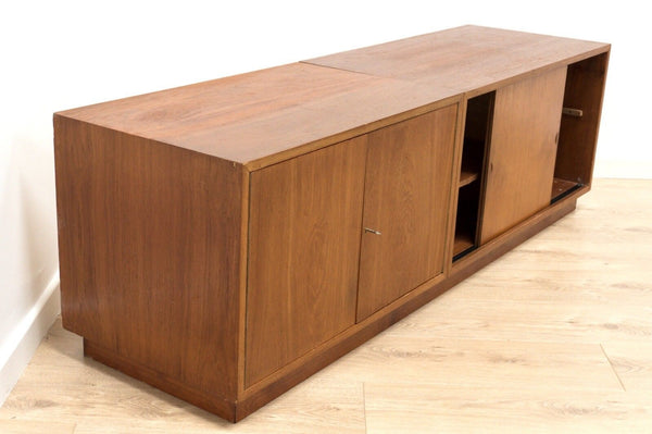 Mid Century Vintage Danish Teak Long And Low Console TV Media Cado