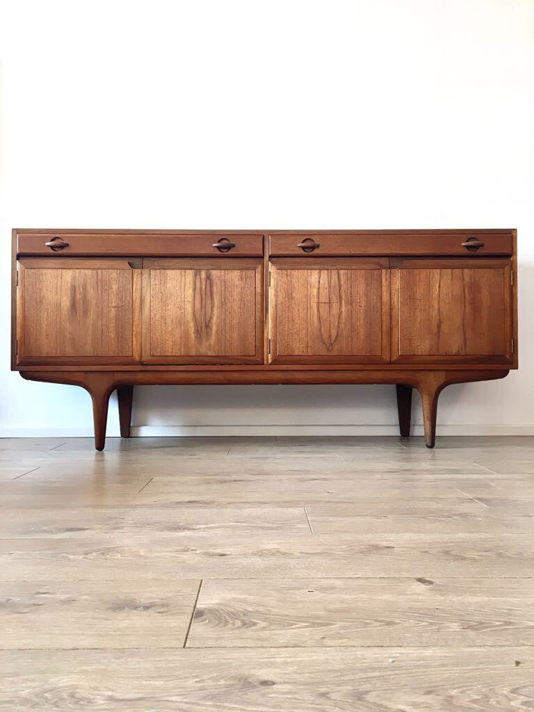 Mid Century Teak Sideboard Credenza By Greaves And Thomas 1960's
