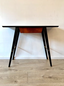 Mid Century Scandinavian Rosewood Side Table Hall Table Danish Influence
