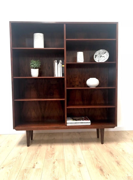 Stunning Large Mid Century Danish Rosewood Book case Shelving Unit by Omann Jun Model 6.