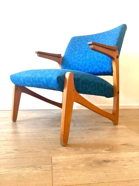 Mid Century Scandinavian Vintage Armchair Lounge Chair Danish Influence 1960's