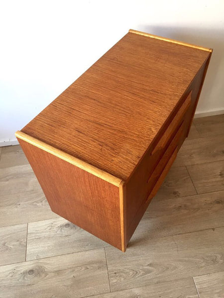 Mid Century Danish Two Tone Teak Chest of 3 Drawers