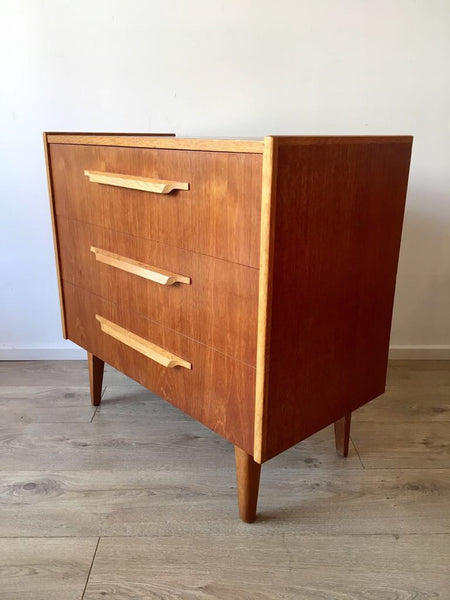 Mid Century Vintage Danish Teak Chest Of Drawers 1960's