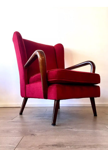 MID CENTURY BAMBINO ARMCHAIR BY HOWARD KEITH FOR H K FURNITURE 1950's