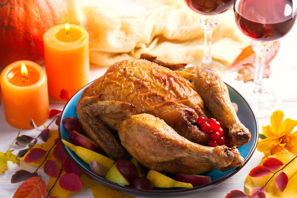 TRADITIONAL THANKSGIVING RICE STUFFED TURKEY WITH A PINCH OF PEPPER -PRIDE OF INDIA