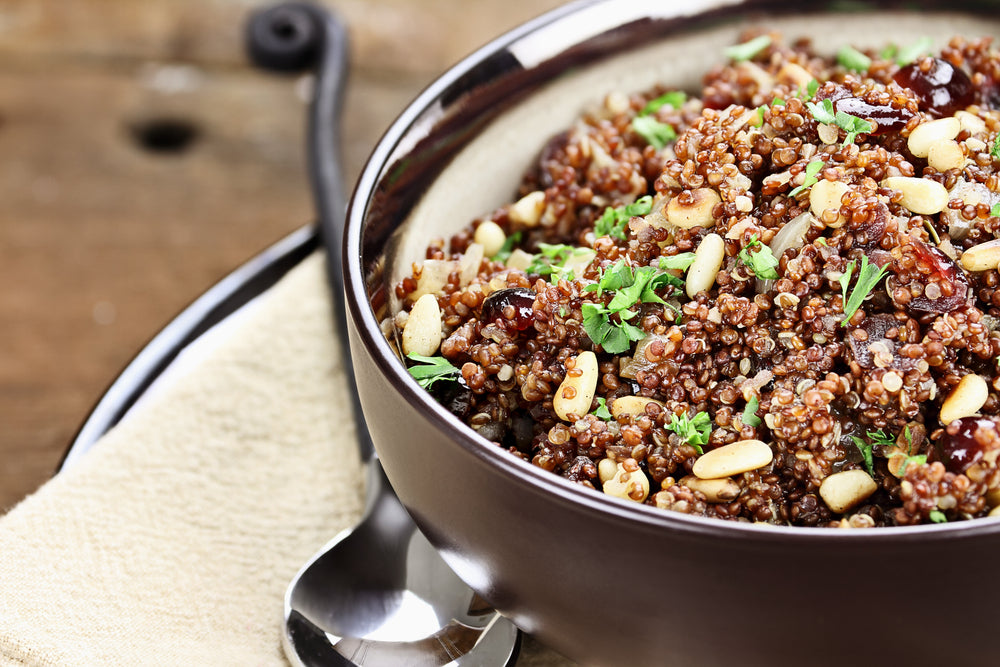 TUSCAN TOASTED RED QUINOA PILAF