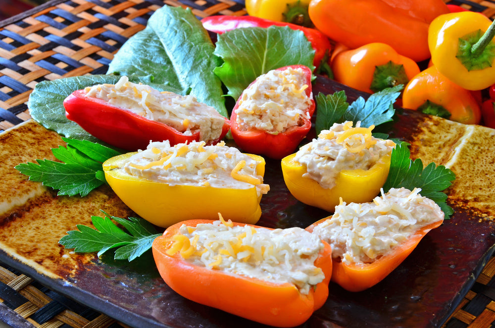 Garbanzo Beans-Stuffed Mini Peppers for Your Christmas Party