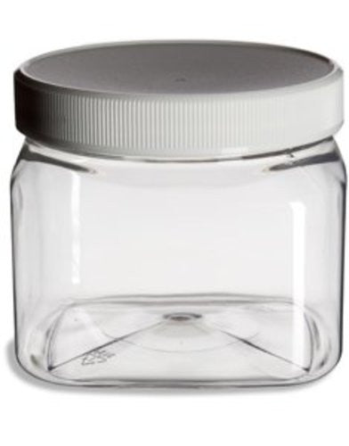 Clear PET Plastic Grip Dry/Liquid Food Storage Jars w/ Caps - BUY 1 - GET 1 FREE (Food Grade - BPA Free) - Pride Of India