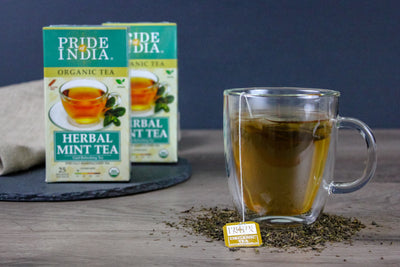 Organic Herbal Mint Tea Bags (Caffeine Free)