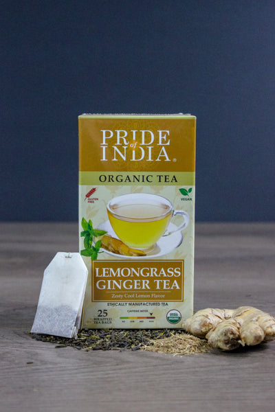 Organic Lemongrass Ginger Herbal Tea Bags