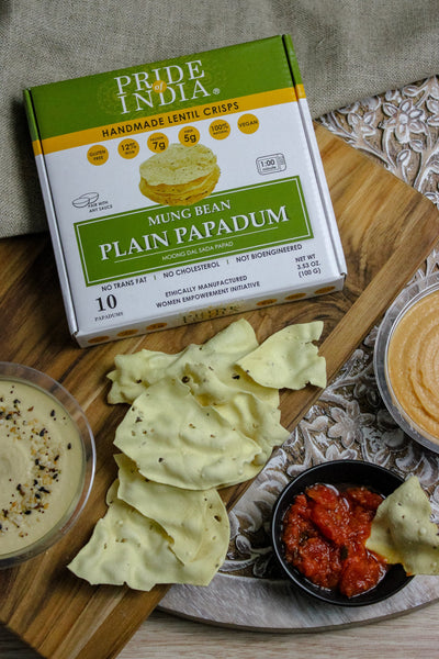 Plain Mung Bean Sada Papadum Lentil Crisp - Pride Of India