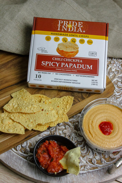 Spicy Chickpea Masala Papadum Lentil Crisp - Pride Of India