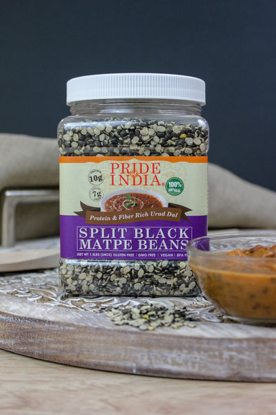 Indian Split Black Gram Matpe Beans - Protein & Fiber Rich Urad Dal Jar - Pride Of India