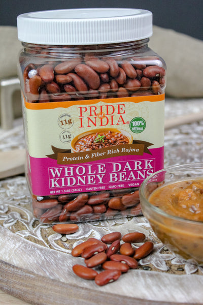 Indian Whole Dark Kidney Beans - Protein & Fiber Rich Rajma Jar
