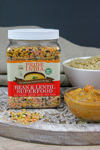 Indian Bean & Lentil Superfood - Five Delicious Panchratna Dal Mixed Jar