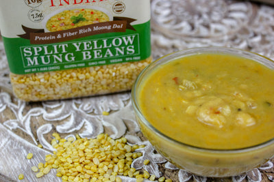 Indian Split Yellow Mung Lentils - Protein & Fiber Rich Moong Dal Jar