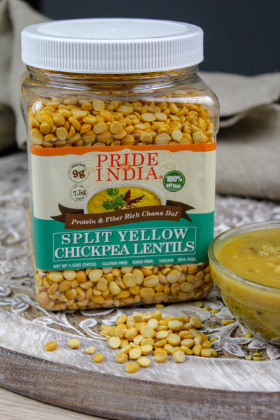 Indian Split Yellow Chickpea Lentils - Protein & Fiber Rich Chana Dal Jar