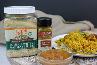 Extra Long Indian White Basmati Rice - Naturally Aged Aromatic Grain Jar