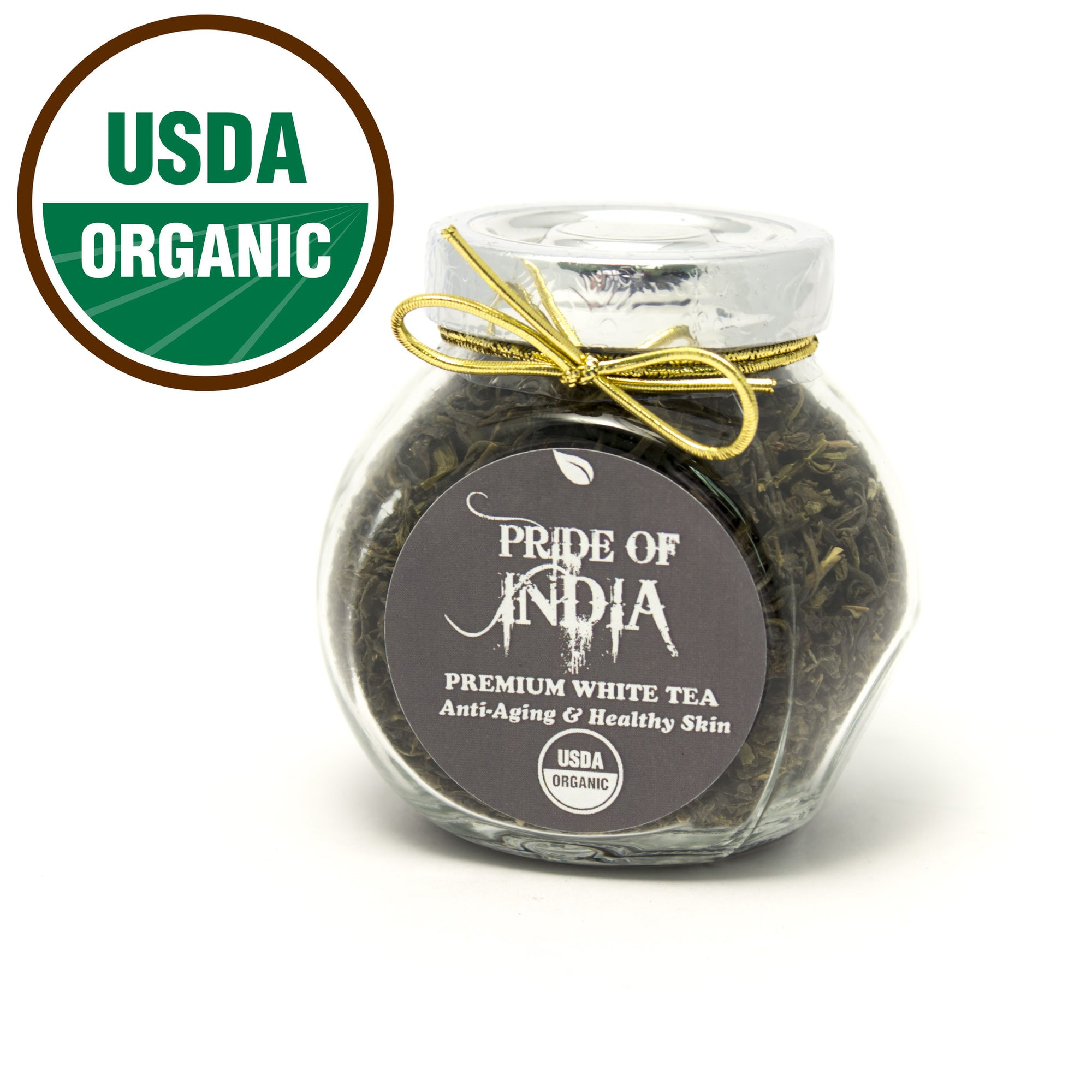 Organic Indian White Full Leaf Tea - Pride Of India
