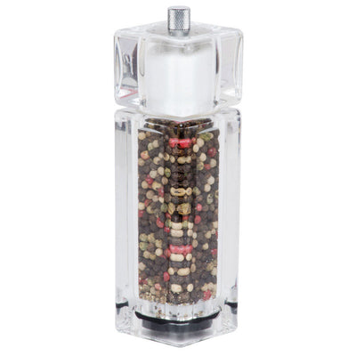 Acrylic Fresh Salt & Pepper 2-in-1 Combo Mill, 6.5 inches - Pride Of India