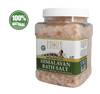 Himalayan Pink Bathing Salt - Enriched w/ Eucalyptus Oil and 84+ Minerals, 2.5 Pound (40oz) Jars - Pride Of India