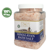 Himalayan Pink Bathing Salt - Enriched w/ Peppermint Oil and 84+ Minerals, 2.5 Pound (40oz) Jars - Pride Of India