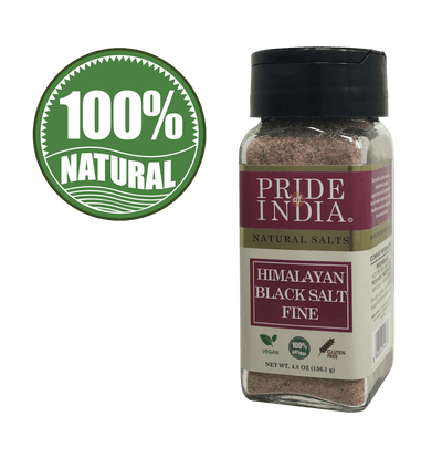 Himalayan Black Rock Salt (Kala Namak) - Fine Grind - Pride Of India