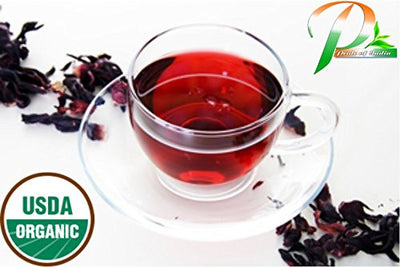 Organic Hibiscus Herbal Full Leaf Tea - Pride Of India