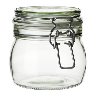 Airtight Tea/Coffee Bale Wire Fido Glass Storage Jar with Lid - Pride Of India