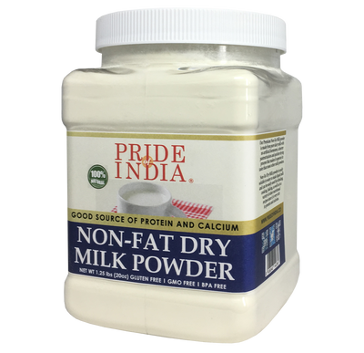 Nonfat Dry Milk Powder - Protein & Calcium Rich - 1.25 lbs (20oz) Jar