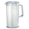 Plastic Ice-Tea Coffee & Juice Pitcher w/ Chilling Tube, 66 Fluid Ounces