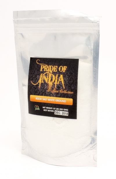 Indian White Salt - Fine Ground Table Grain, Half pound (8oz - 227gm) Pack - Pride Of India