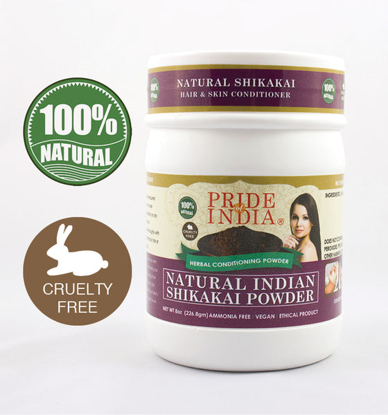 Natural Shikakai Acacia Herbal Hair & Skin Conditioning Powder, Half Pound (8oz - 227gm) Jar - Pride Of India