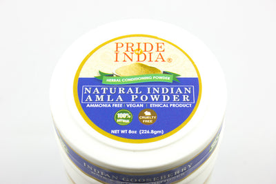 Natural Amla Gooseberry Herbal Hair & Skin Conditioning Powder, Half Pound (8oz - 227gm) Jar - Pride Of India