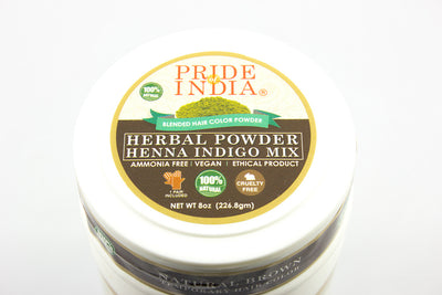 Herbal Henna & Indigo Mix Hair Color Powder w/ Gloves