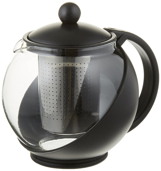 Tempered Glass Tea Pot for 2 or More w/ Removable Steel Infuser - Pride Of India