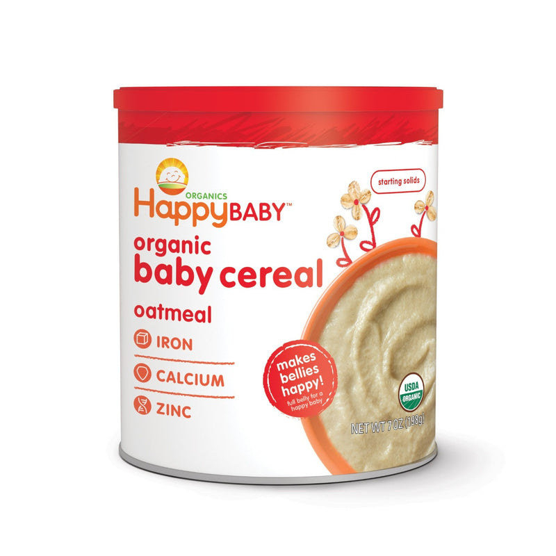 Happy Family Organic Baby Cereal Cans - Various