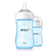 Philips AVENT Natural 2.0 Feeding Bottle 260ml - BLUE Twin Pack