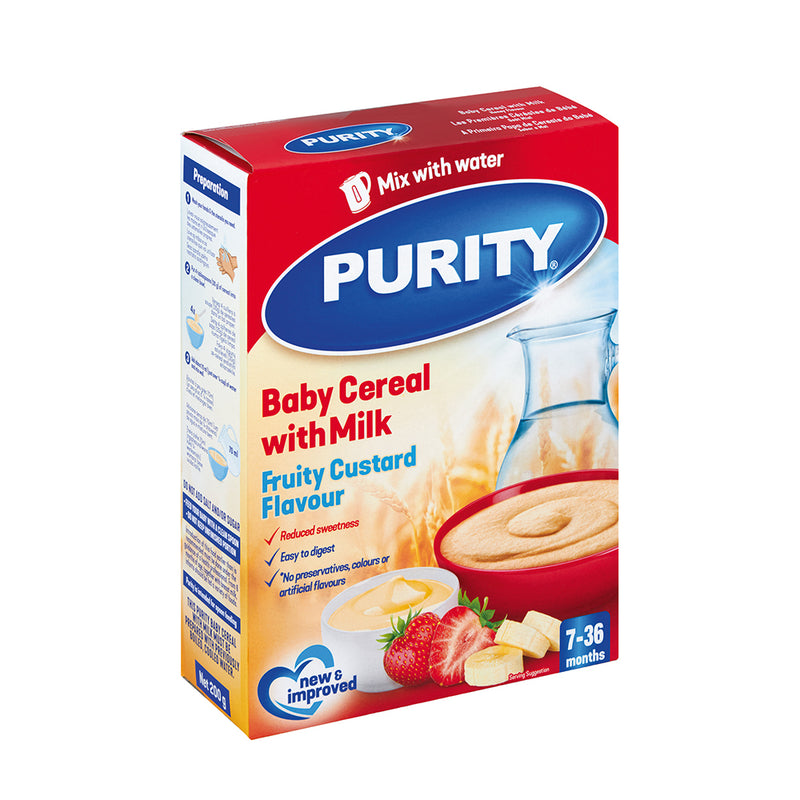 Purity 2nd Foods Fruity Custard Cereal 450g