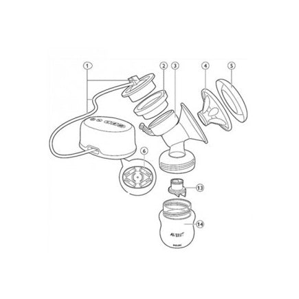 Philips Avent Electric Breastpump Replacement Tubing Cap