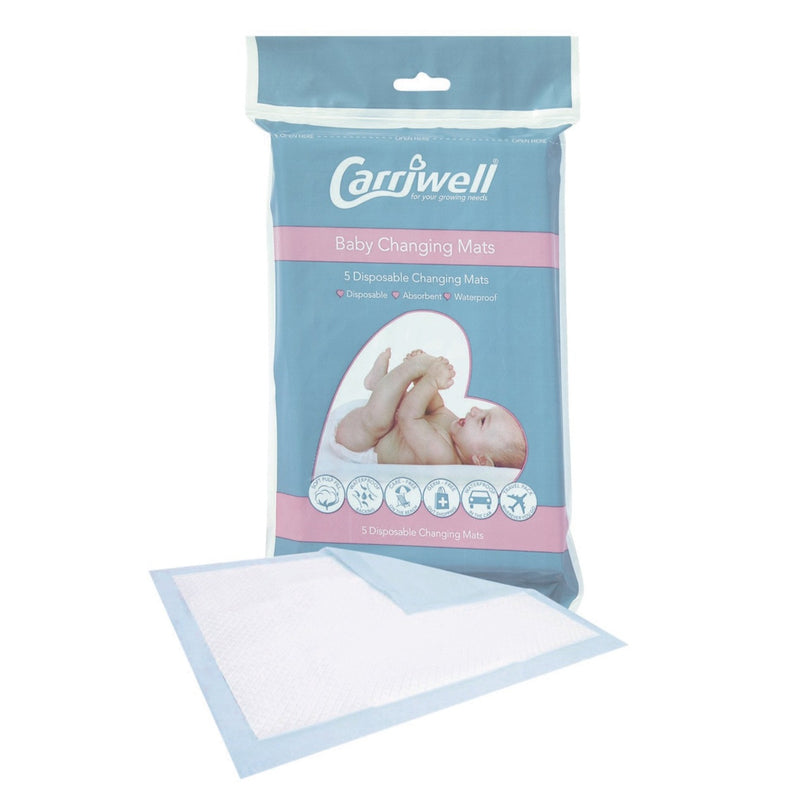 Carriwell Baby Changing Mats - 5-Pack