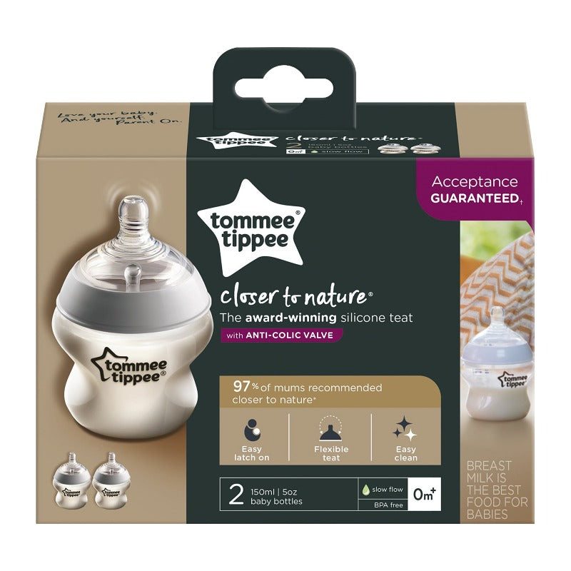 Tommee Tippee 150ml Bottle 0m+ - 2-Pack
