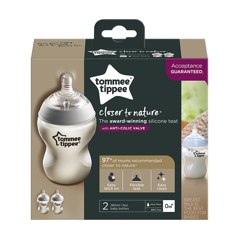 Tommee Tippee 260ml Bottle 0m+ - 2-Pack