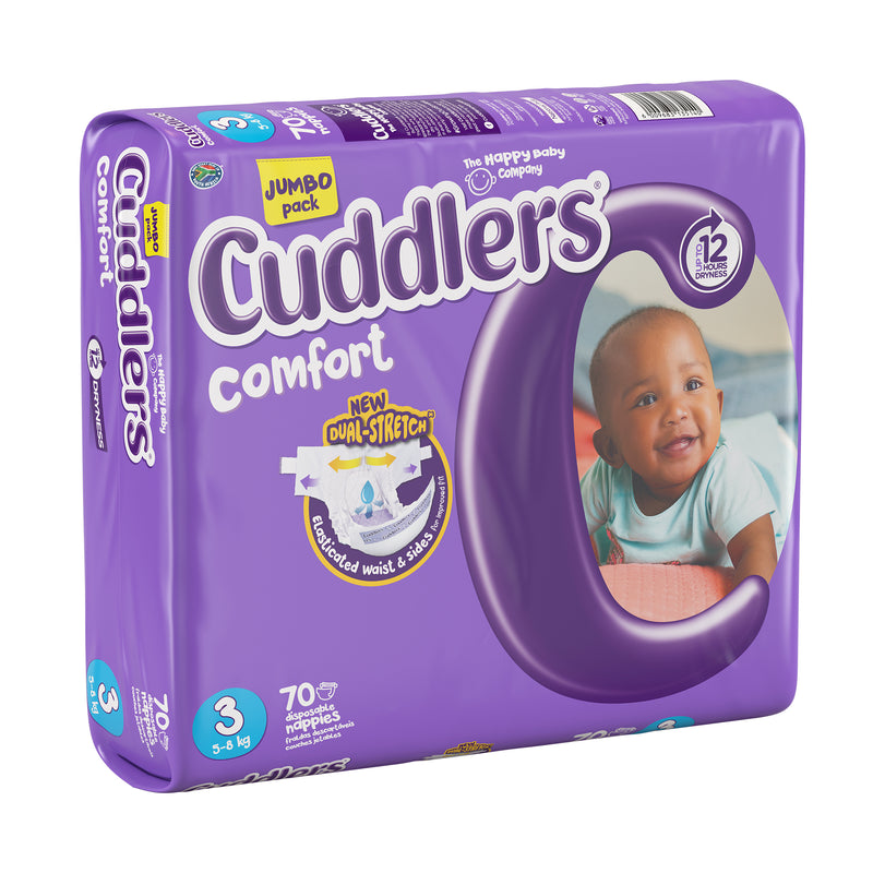 Cuddlers Comfort - Size 3 - 70's (Jumbo Pack)
