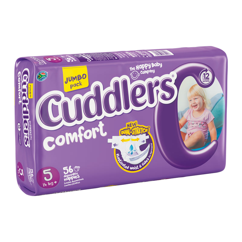 Cuddlers Comfort - Size 5 - 56's (Jumbo Packs)