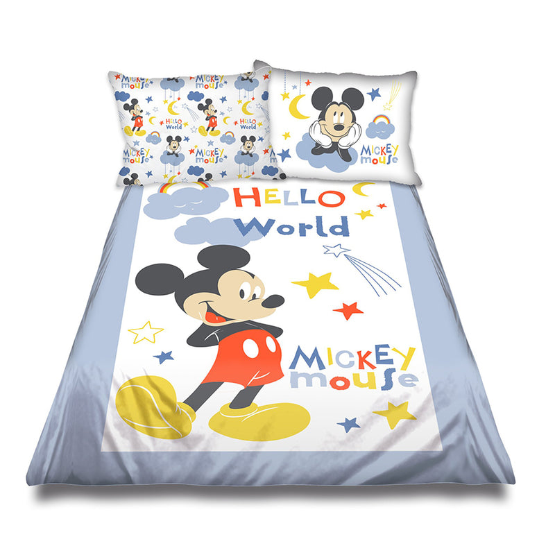 Character Group Cot Comforter Set - Mickey Mouse