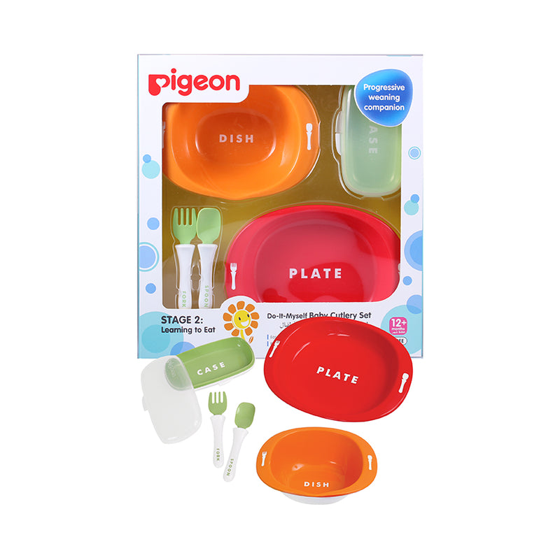 Pigeon Do-It-Myself Baby Cutlery Set