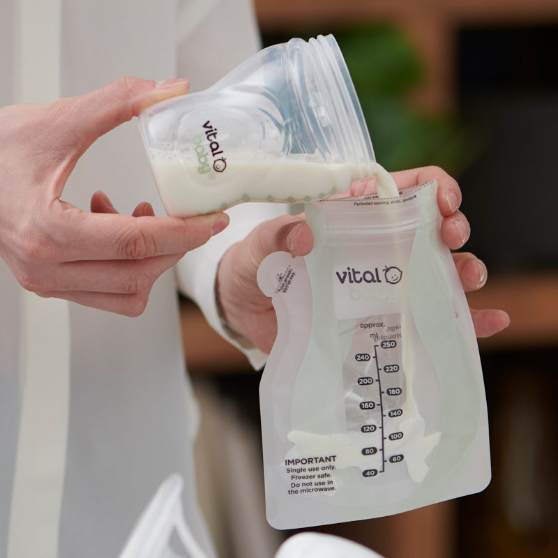 Vital Baby Easy Pour Breastmilk Storage Bags