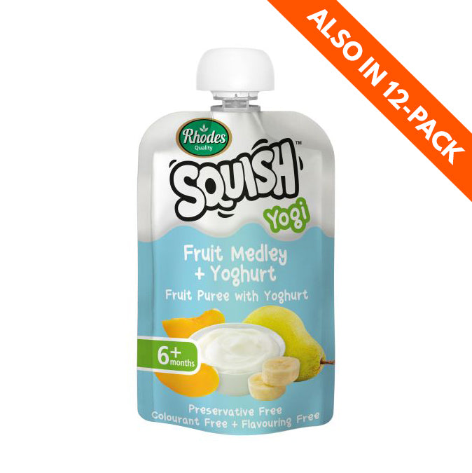 Rhodes Squish Baby Food - Fruit Medley & Yoghurt