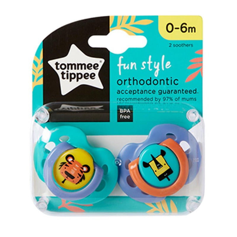 Tommee Tippee Fun Style Soother - 0-6m - 2-Pack